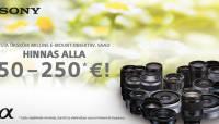 Suvi käes: paljude Sony E-mount objektiivide hinnad all kuni 250€