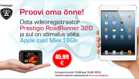 Prestigio autokaamera Road Runner 320 ostul võid võita iPad Mini