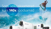 Vaid 7 päeva: kõik Sony seikluskaamerad kuni 140€ soodsamad