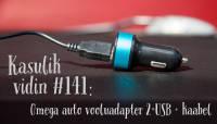 Kasulik vidin #141: Omega auto vooluadapter 2×USB + kaabel
