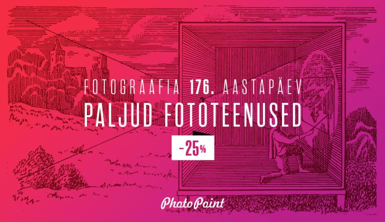 Tähista koos Photopointiga fotograafia 176. aastapäeva
