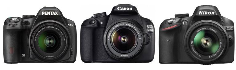 Millist soodsat peegelkaamerat valida? Pentax K-50 vs Canon EOS 1200D vs Nikon D3200