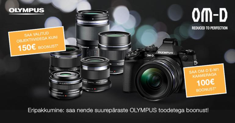 Eripakkumine: saa valitud Olympuse toodete ostul kuni 150€ boonust