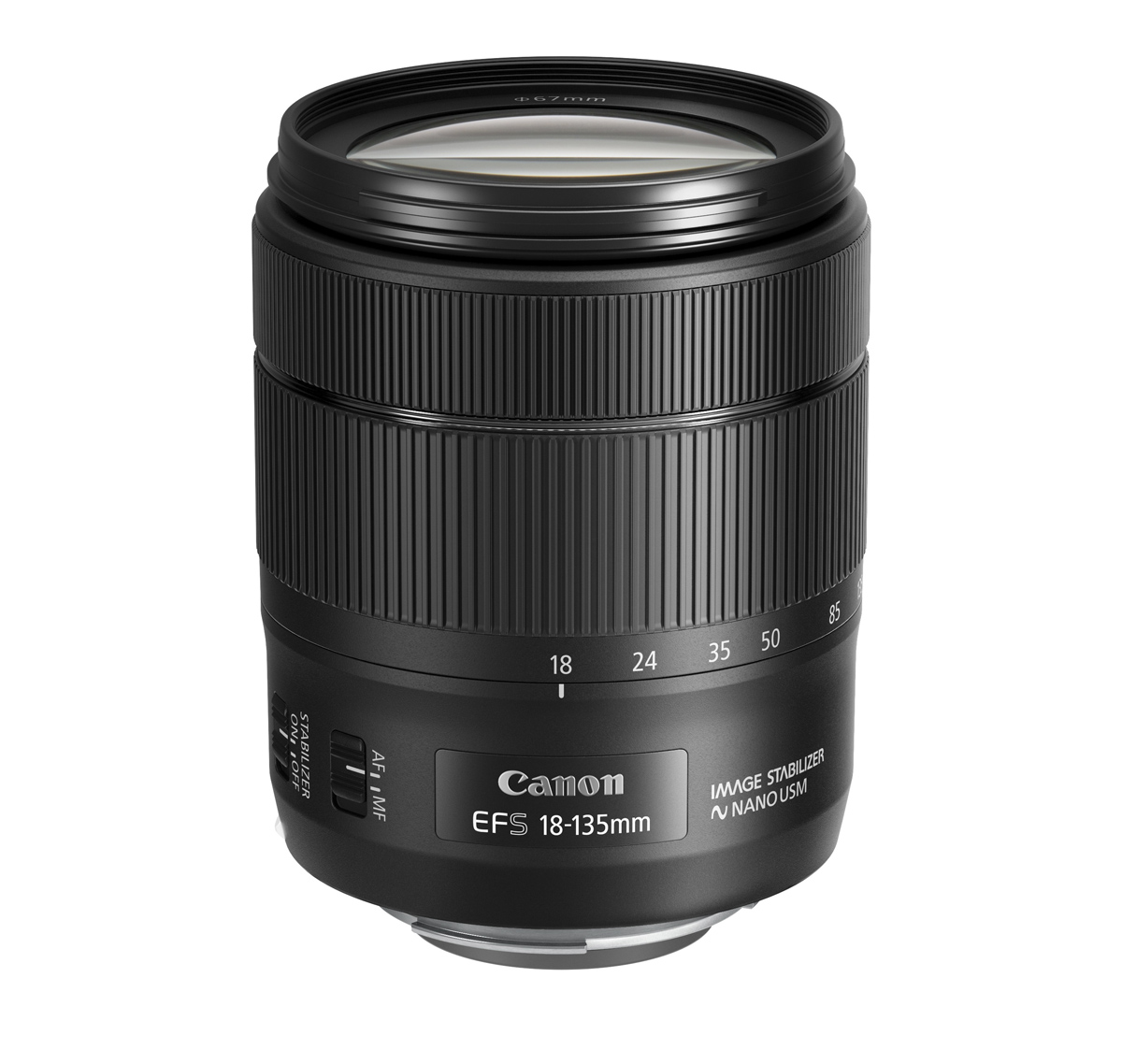 EF-S 18-135mm f3.5-5.6 IS USM Slant without cap