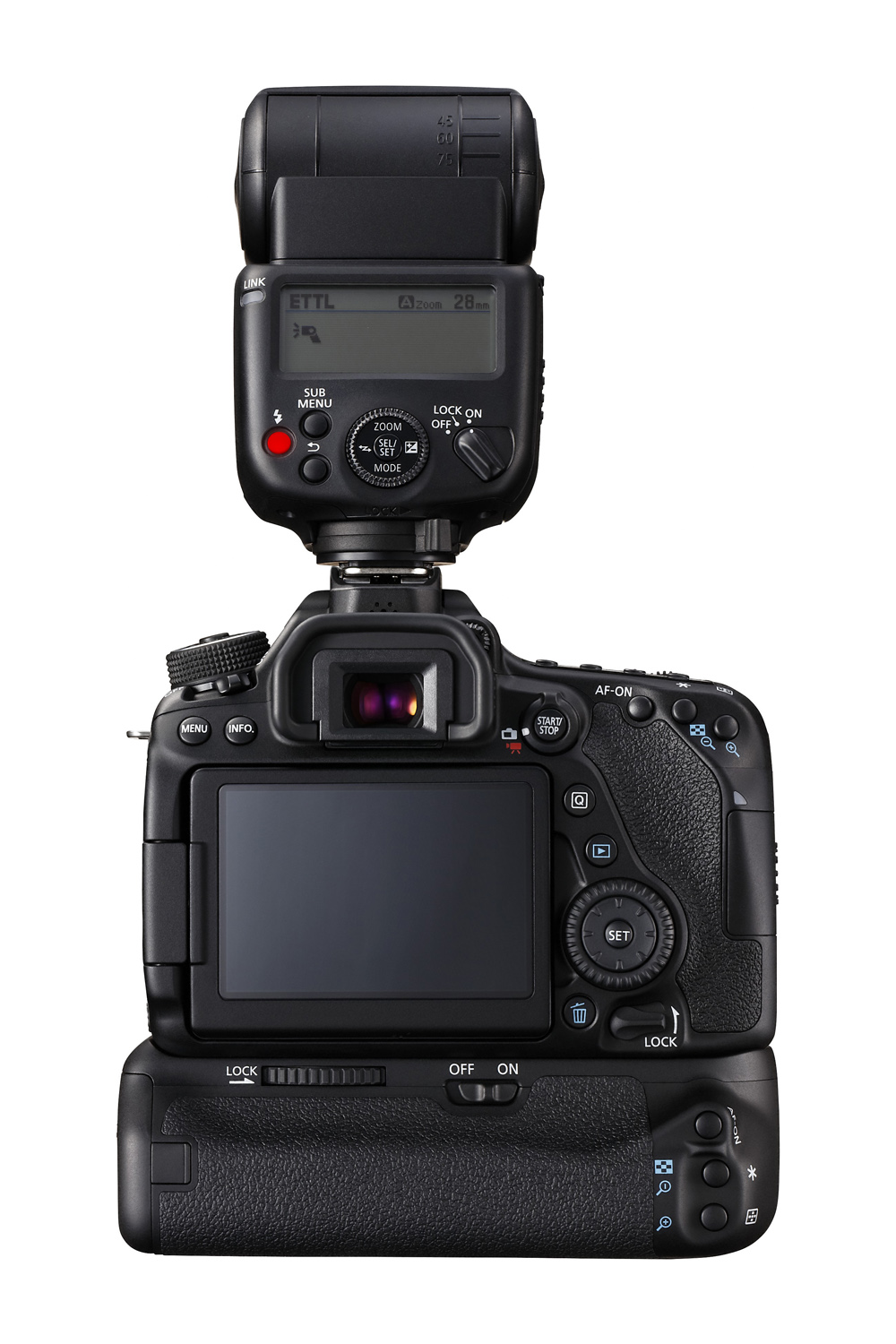 EOS 80D Battery Grip BG-E14 Speedlite 430EX III-RT BCK