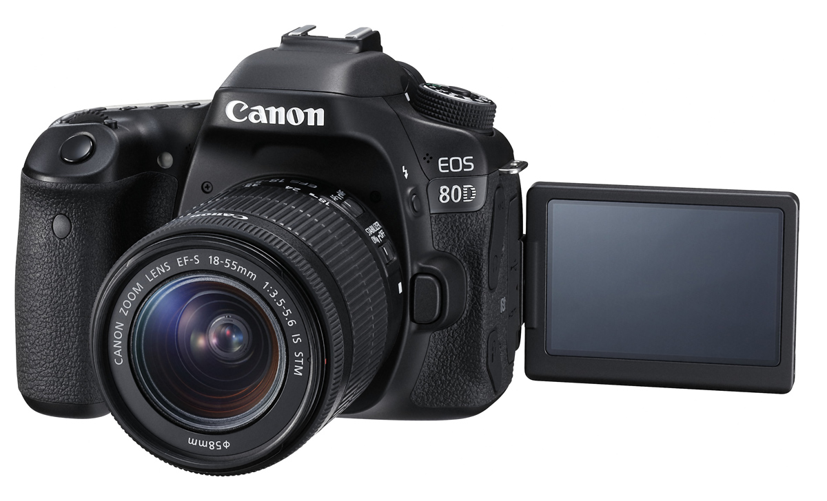 EOS 80D EF-S 18-55mm IS STM LCD Open FSL