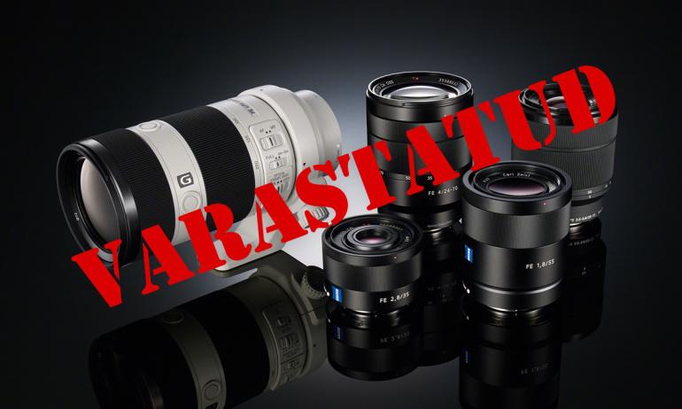Photopointist varastatud Sony ja Tamroni objektiivide seerianumbrid