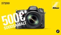 Vana Nikon peegelkaamera asemel uus Nikon D7200 kuni 500€ soodsamalt