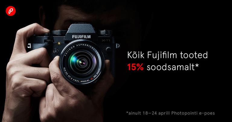 Fujifilmi toodete soodusnädal Photopointi veebikaubamajas