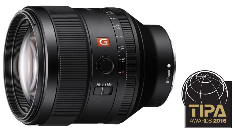 Sony FE 85mm f/1.4 GM: TIPA 2016 parim hübriidkaamera fiksobjektiiv
