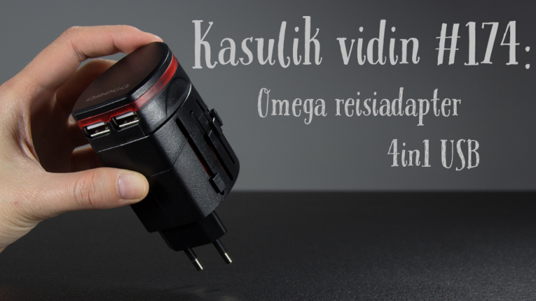 Kasulik vidin #174: Omega reisiadapter 4in1 USB