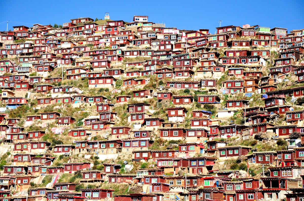 Munkade villad. Larung Gar, Sichuan, Hiina