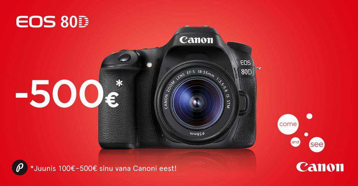 c15721c85fe Too oma vana Canon digipeegel meile - saad uue Canon EOS 80D ...