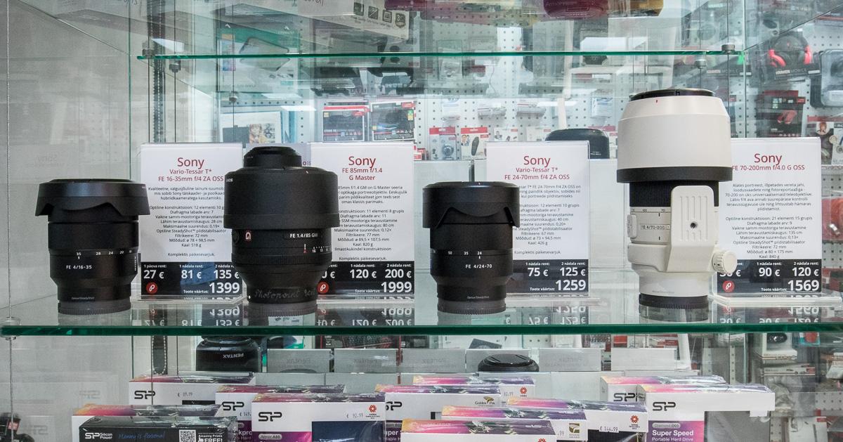 Nüüd Tallinnas rentimiseks saadaval: objektiivid Sony täiskaadersensoriga hübriidkaameratele