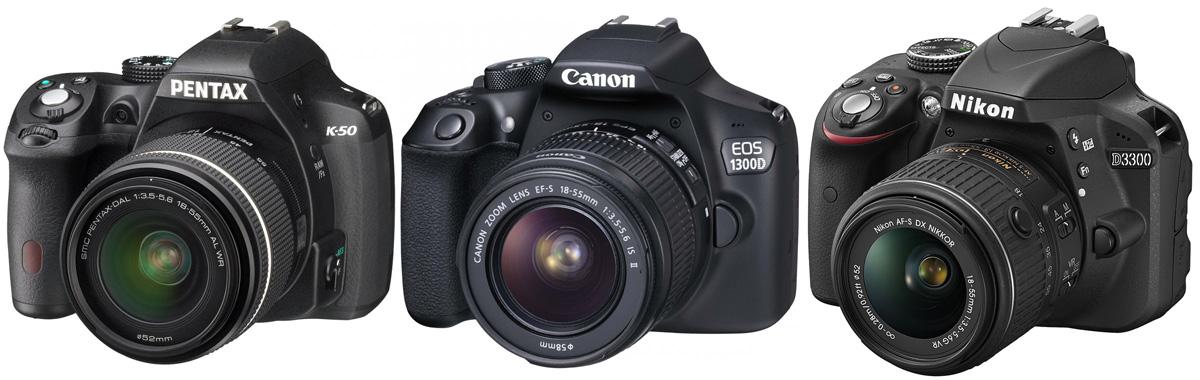 Millist soodsat peegelkaamerat valida? Pentax K-50 vs Canon EOS 1300D vs Nikon D3300