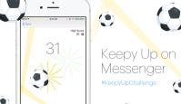 Kõksi sõpradega Facebook Messenger'is jalgpalli ja purusta rekordeid