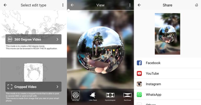 """360° videote töötlemise rakendus """"THETA+ Video"""" on nüüd saadaval ka Android nutitelefonidele"""