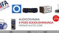 IFA 2016: audiotehnika kuni -61% + tasuta transport olenemata ostusummast