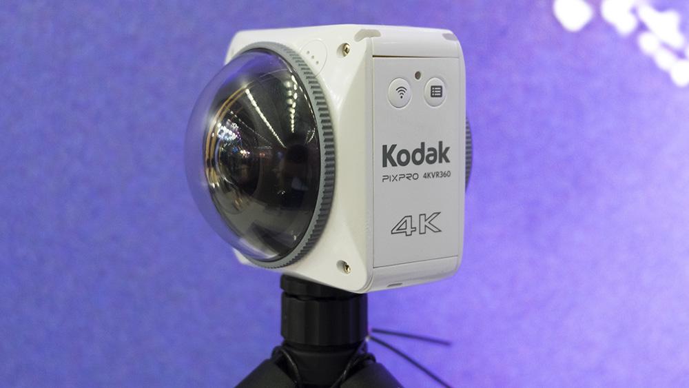 Kodak PixPro 4KVR360 on 360-kraadilisi sfäärilisi videosid tegev pritsmekindel kaamera