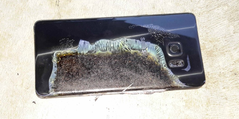 Samsung Galaxy Note 7 on surnud