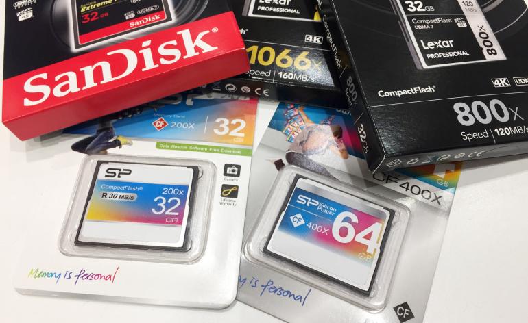 Arendusjärgus on uued ülikiired CompactFlash mälukaardid