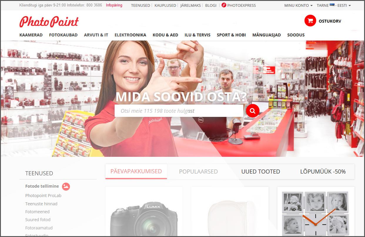 Photopoint pakub tööd: online klienditoe spetsialist Tartus, Photopointi peakontoris