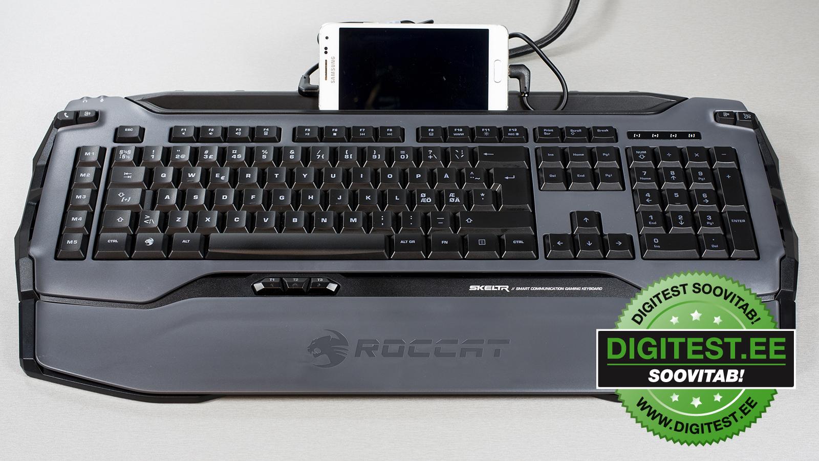 Digitest.ee: Roccat Skeltr mänguriklaviatuur, mis sobib ka kontoritööks