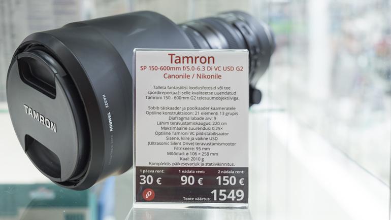 Photopointi rendis nüüd saadaval: Tamron SP 150-600mm f/5.0-6.3 DI VC USD G2