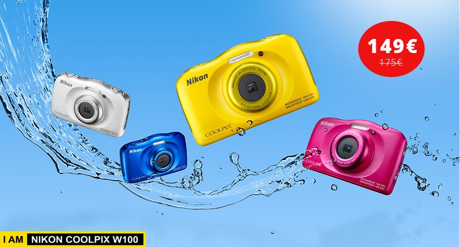 Vee- ja põrutuskindel Nikon Coolpix W100 külmakindla soodushinnaga