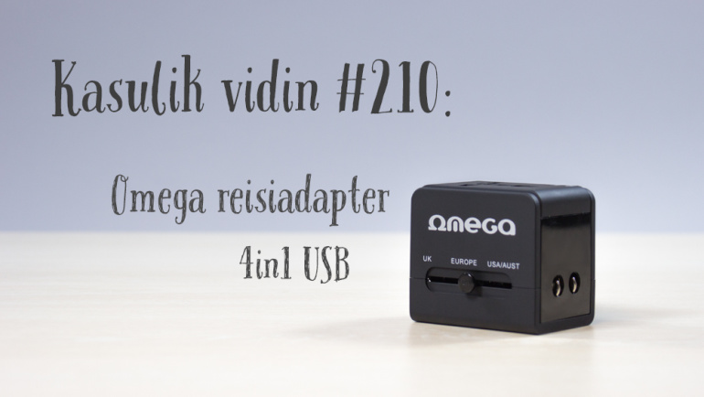 Kasulik vidin #210: Omega reisiadapter 4in1 USB