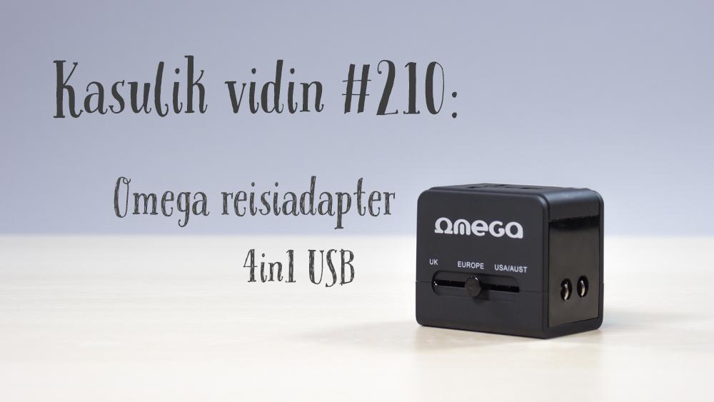 Kasulik vidin #210: Omega reisiadapter 4in1 USB