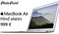 Maailma ühe ihaldusväärseima sülearvuti Apple Macbook Air hind nüüd alates 999€