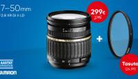 Kitobjektiivi asemel: valgusjõulisel Tamron 17-50mm f/2.8 soodushind + kingitus