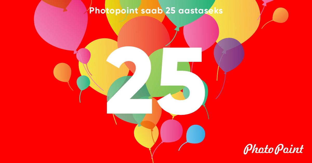 Photopoint 25 - alaku 4 päeva kestvad juubelipidustused