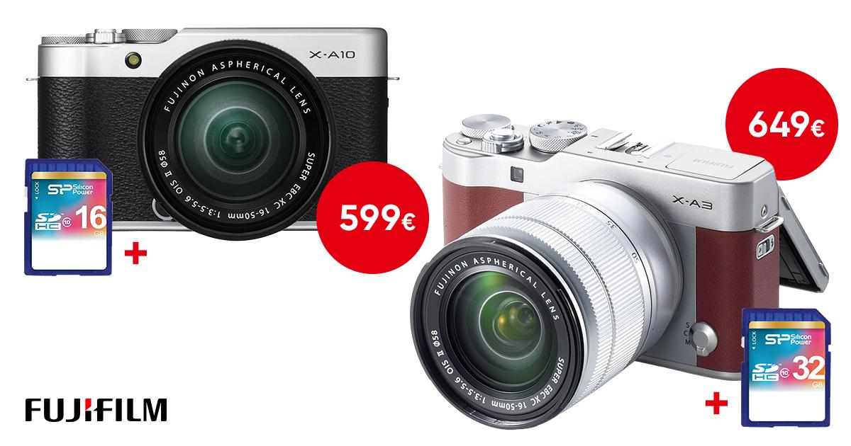 Uue Fujifilm X-A10 või X-A3 seeria hübriidkaamera ostul kingituseks kiire mälukaart