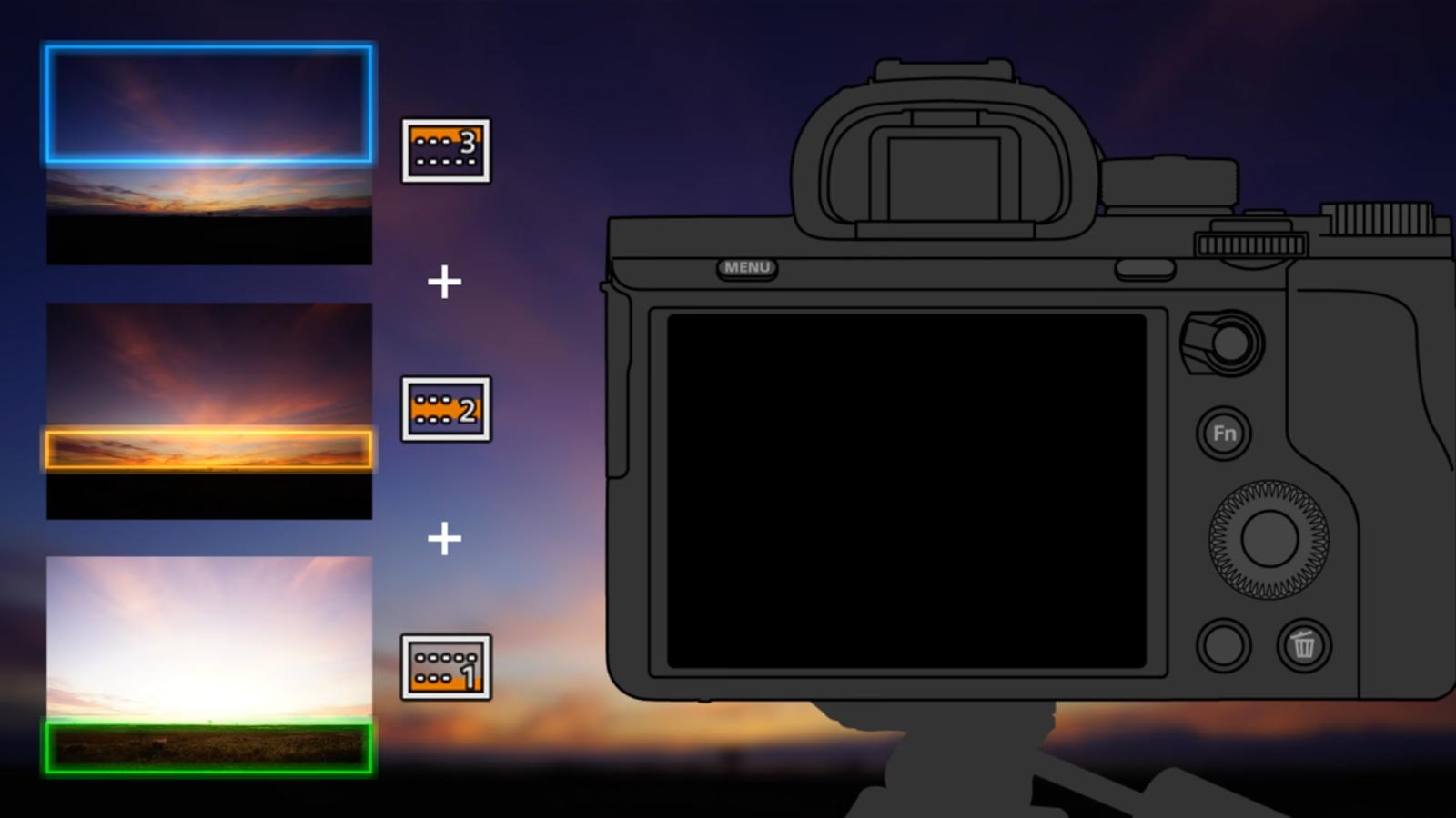 Sony Digital Filter rakendus lubab sulatada kolm erinevat pilti üheks