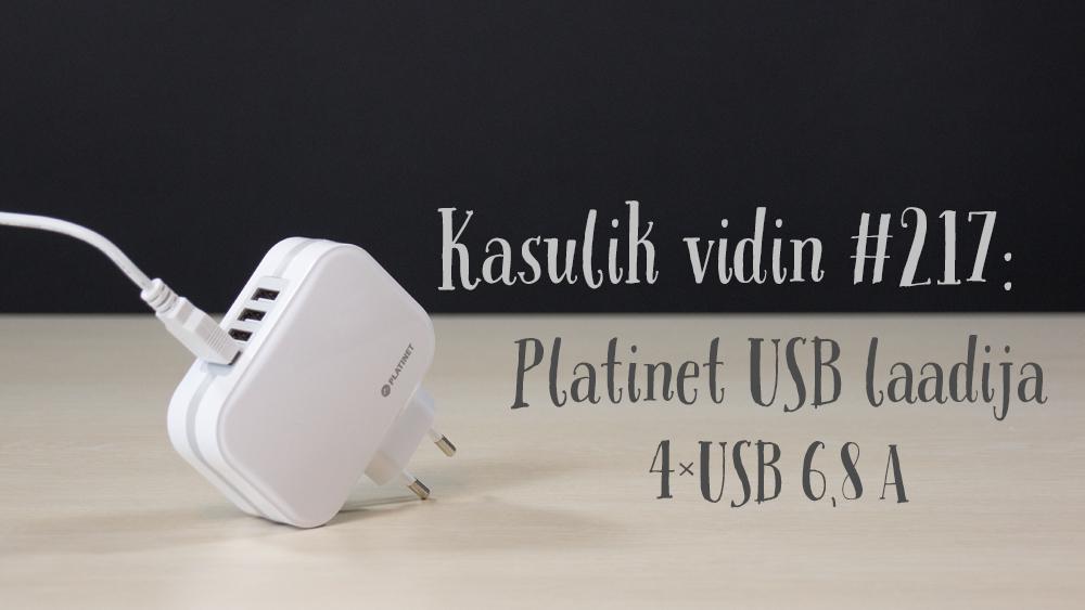 Kasulik vidin #217: Platinet USB laadija 4xUSB 6800mAh + kaabel