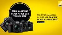 Too meile oma vana digikaamera ja saad uue Nikoni pealt soodustust