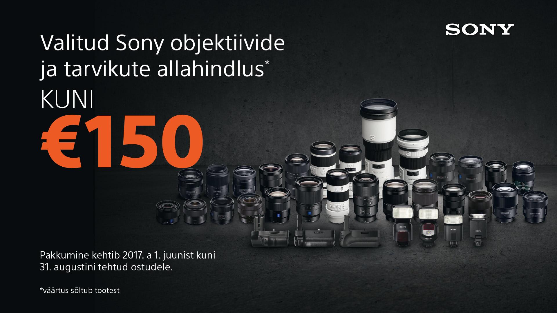 Suvi käes - valitud Sony välgud ja E-mount objektiivid kuni 150€ soodsamad