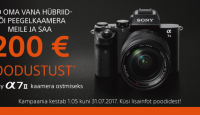Too oma vana digikaamera meile ja Sony a7 II on Sulle 200€ soodsam