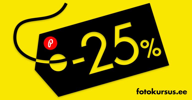 Suur e-ostlemise päev – kõik fotokursused on 25% soodsamad