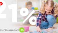 Lastekaitsepäev viib veebikaubamaja mänguasjade valiku hinnad veelgi alla