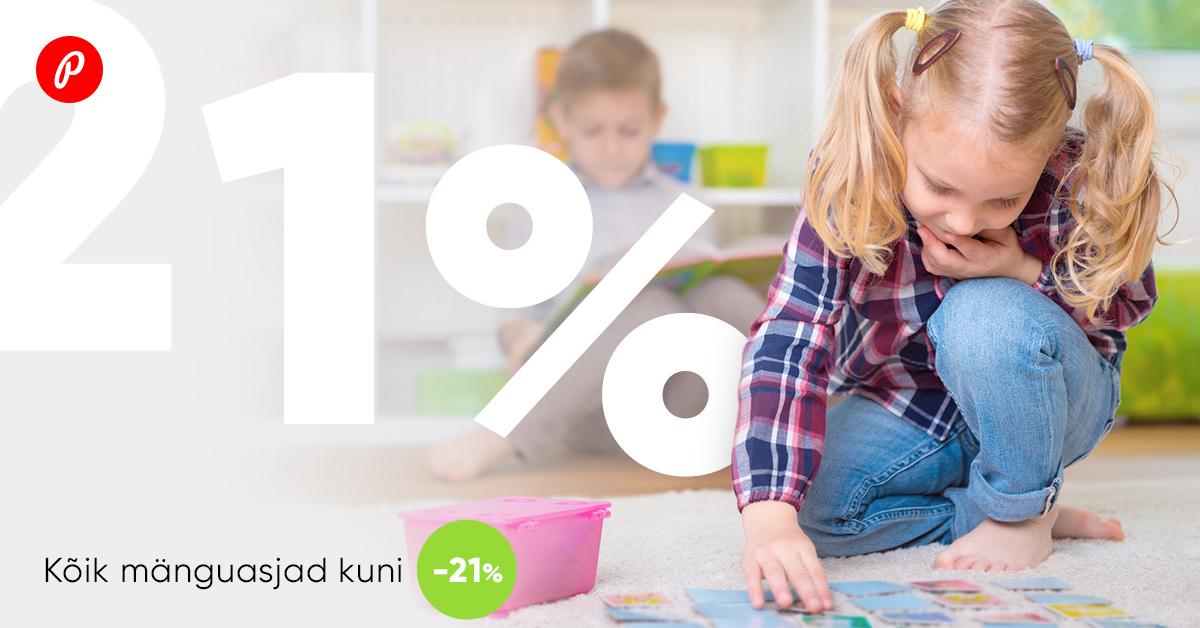 Ainult veebikaubamajas - üle 30 000 mänguasja on kuni 21% lisaallahinnatud