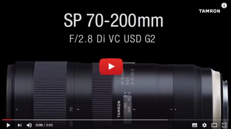 Vaata videot: Tamron SP 70-200mm f/2.8 Di VC USD G2 telesuumobjektiiv