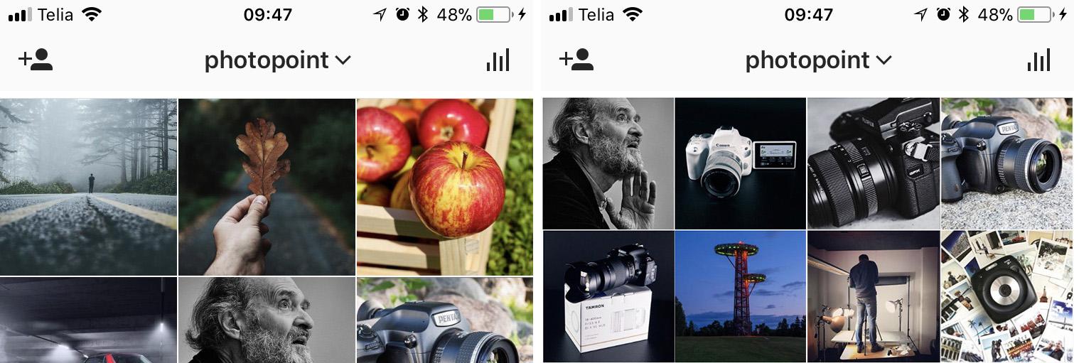 Instagram ähvardab muuta fotogaleriide kolmese asetuse 4x4 peale