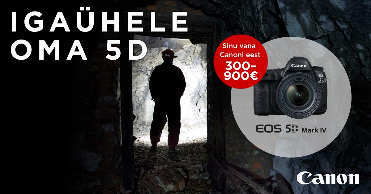 Too enda vana Canon digipeegel meile – saad uue EOS 5D Mark IV soodushinnast veel kuni 900€ alla
