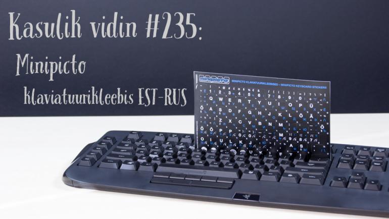 Kasulik vidin #235: Minipicto klaviatuurikleebis EST-RUS