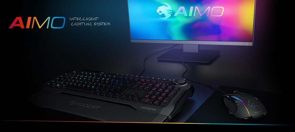 Roccat Horde AIMO klaviatuur ja Roccat Kone AIMO hiir tulevad targa valgustusega