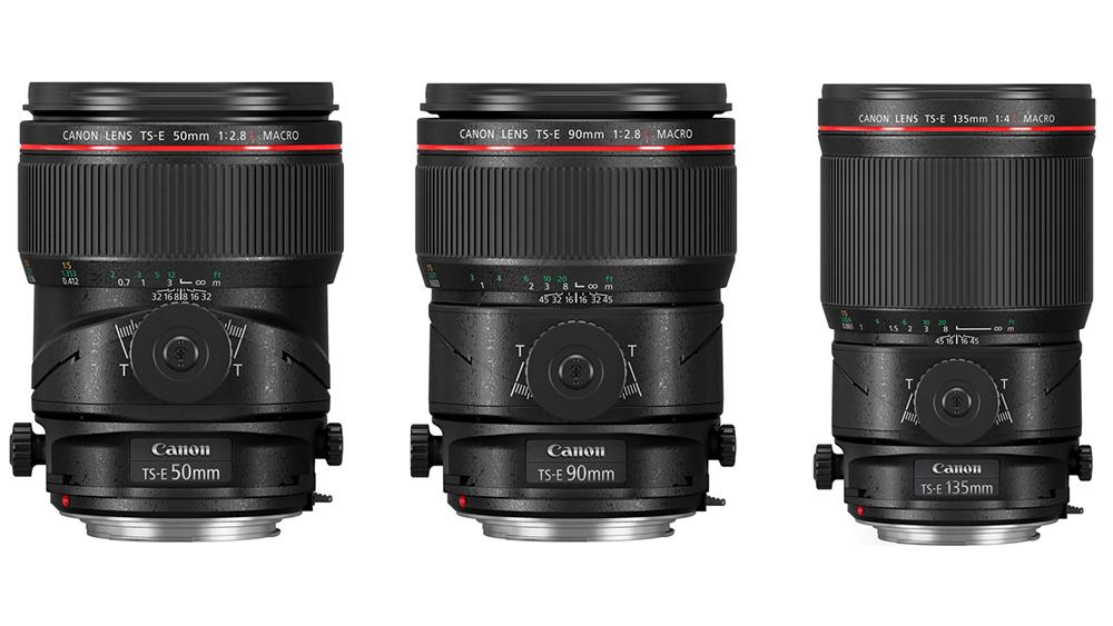 Canon tutvustas kolme tilt-shift makroobjektiivi: TS-E 50mm, 90mm ning 135mm
