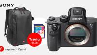 Ükskõik millise Sony a7 kaamera ostuga kaasa 115€ kingitus!